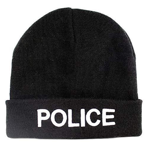 Bonnet Noir Bonnet Brodé Police
