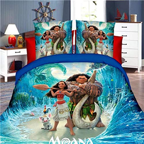 Avvsovs 3D printed duvet cover, soft single kings bed full size bedding, Cartoon anime character simple bed sheet pillowcase bedding3pcs 220 x 240 cm Zipper closure Duvet cover set boy girl c
