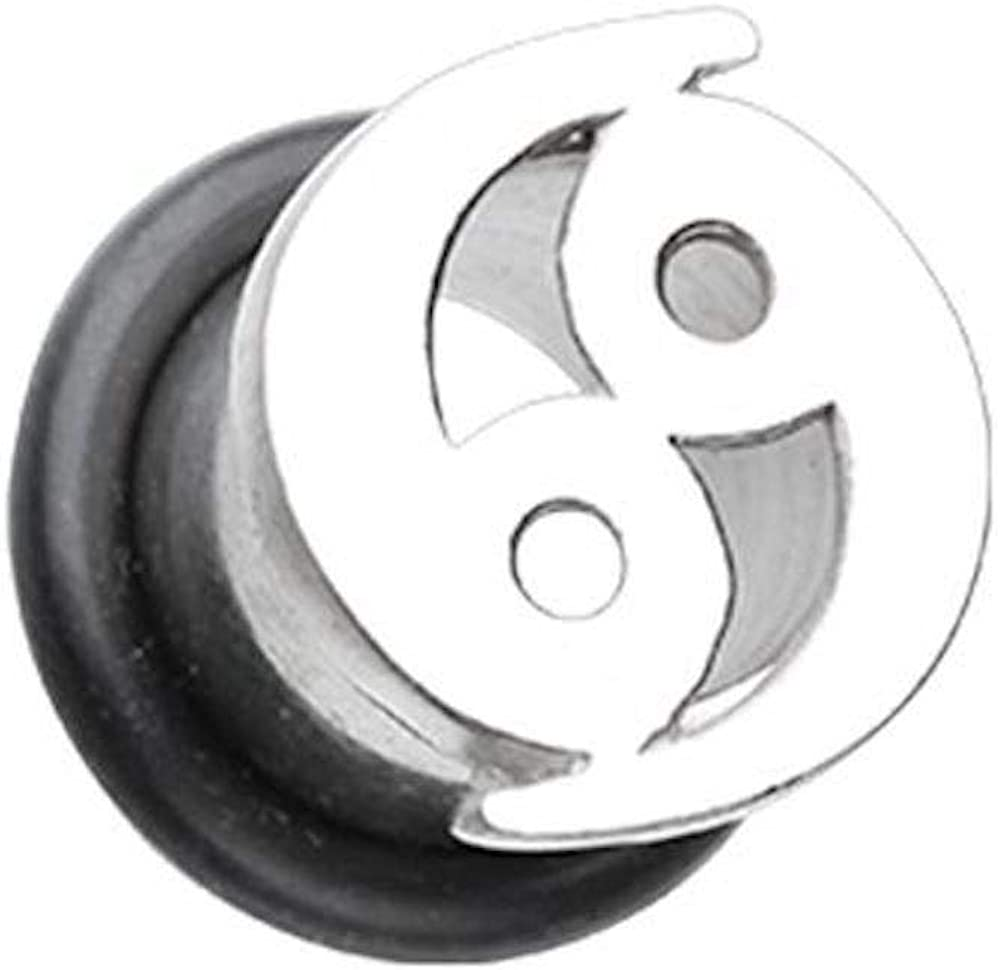 Covet Jewelry Cancer Zodiac Astrology Sign Steel Single Flared Ear Gauge Plug
