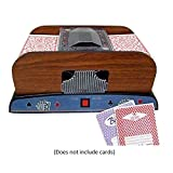 Automatic Playing Card Shuffler, Wooden Electric Automaoard Card Shuffler 2 Deck