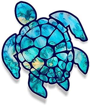 Sea Turtle Car Stickers Decals Waterproof Car Styling Bumper Stickers For Car Body Door Window Stickers Vinyl  Cyan Dream  5