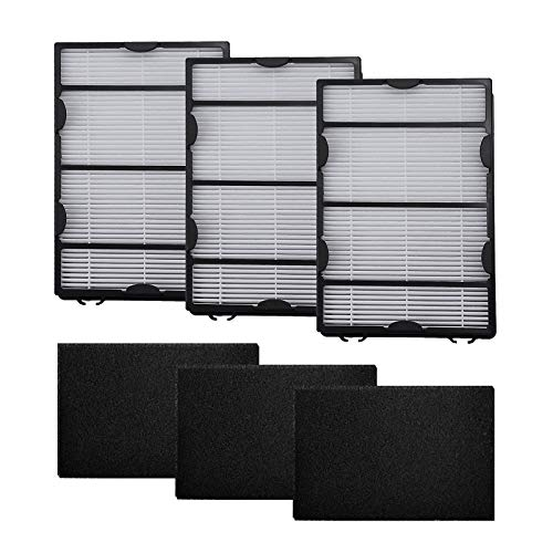 Hoypeyfiy Hapf600 Filter True HEPA Filter Replacement for Holmes HEPA HAPF600D-U2 Air Filter with Carbon Filter 3 Pack