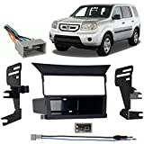 Compatible with Honda Pilot 2009 2010 2011 Single DIN Stereo Harness Radio Install Dash Kit Package