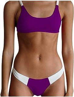 Bsjmlxg New Sexy Women Swimsuit Push Up Padded Bra Beach Two Piece Bikini Patchwork Sport Style Swimwear Set