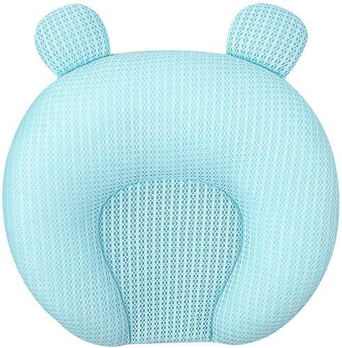 Geggur Baby Latex-Formkissen Baby Korrektur Anti-exzentrischen Kopftyp atmungsGedächtnisSchaumKissen,Blue