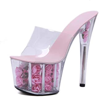 Women's Transparent Summer Stiletto Slippers,Ladies Fish-BilledSandals for Weight Loss, Massage, Increase