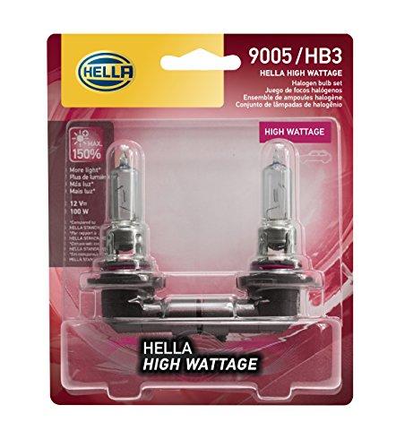 HELLA 9005 100WTB Twin Blister High Wattage Bulbs, 12V, 2 Pack