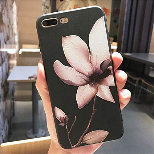 Daisy Case für iPhone X XR XS Max 12 Mini 11 Pro Max Case für iPhone 6 6s 7 8 Plus SE 2020 Silikon 3D Relief Flower Softcover iPhone 7 T4