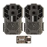 Stealth Cam Dual Sensor STC-DS4K Trail Camera, 30 Megapixel/4K Ultra HD Video - 2-Pack with Focus USB Reader