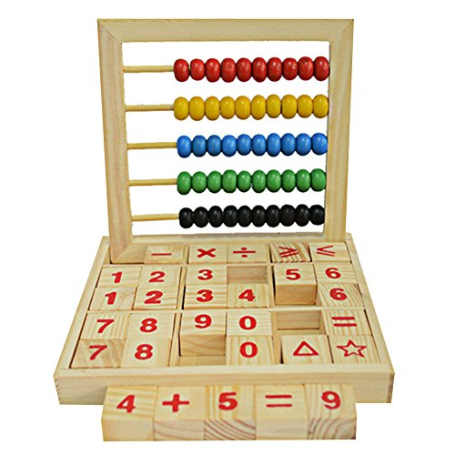 FightingGirl Wooden Abacus Children Kids Counting Number Maths Learning Toy