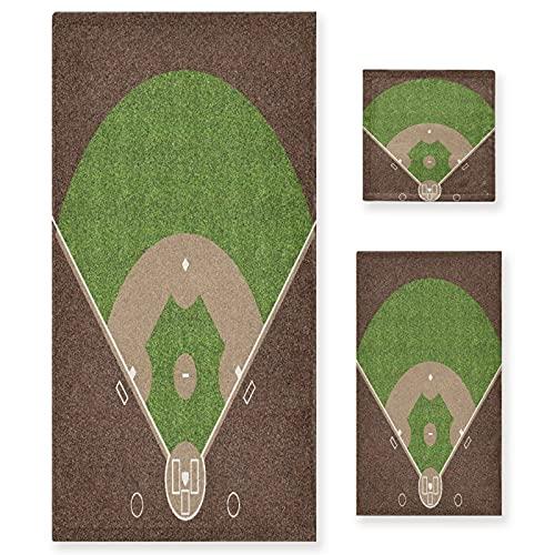 VINISATH Home Juego de Toallas Baño,Una Vista aérea del Campo de béisbol...