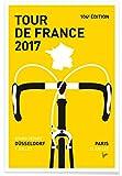 "JUNIQE® Radfahren Poster 60x90cm - Design ""Tour de"