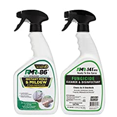 TWO FAST-ACTING FORMULAS: The ultimate mold prevention kit, our bundle includes 1 spray bottle of RMR-86 and 1 spray bottle of RMR-141 RTU to kill mold and mildew instantly while lifting difficult stains that are left behind KILL MOLD AND MILDEW INST...