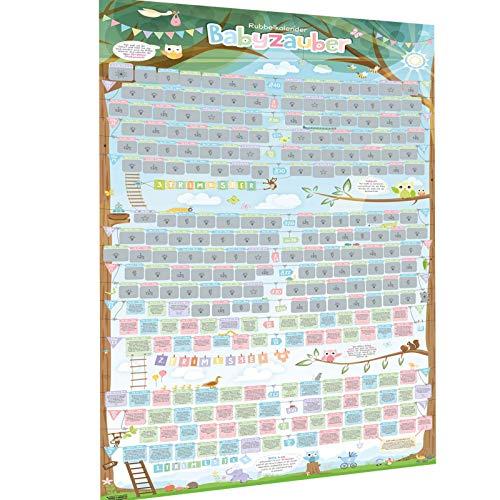 all Kids United Schwangerschaftskalender zum Rubbeln - Schwangerschafts-Tagebuch & Rubbel-Kalender - Schwangerschaftstagebuch führt Tag für Tag durch die Schwangerschaft