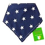 Dimples Hundehalstuch - Blau mit Sternen (Handgemacht für alle Größen und Rassen) 45cm