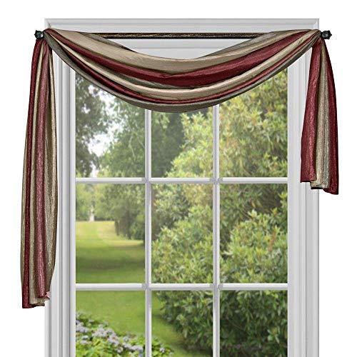 "Achim Home Furnishings Ombre Window Curtain Scarf, 50"" x 144"", Burgundy"