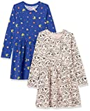 Spotted Zebra Disney Star Wars Marvel Frozen Princess Knit Long-Sleeve Play Dresses Vestido, Paquete de 2 Fiestas de Princesa, 9-10 años