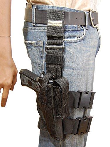 New Barsony Tactical Leg Holster for Full Size 9mm 40 45