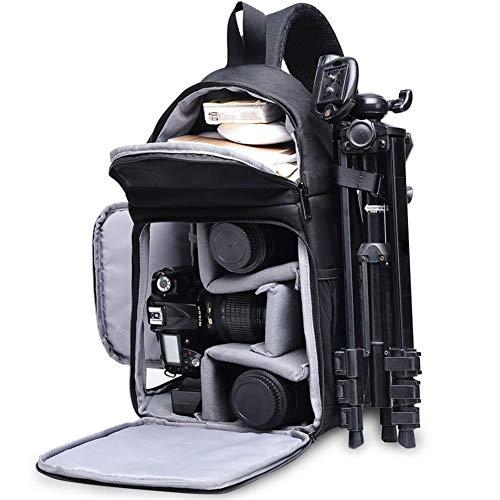 カメラバッグスリングバックパック、軽量、傷がつきにくい、ヘリンボーンパターンエッジ、ショルダーストラップハンドル、強力な保護、多機能