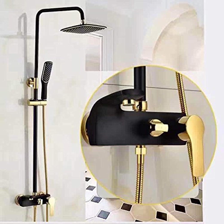 AQMMi Basin Taps Bathroom Sink Faucet Shower Set Shower Black Bronze Handheld Copper Hot and Cold Water Shower Valve with Lever Bathroom Sink Faucet Basin Mixer Tap
