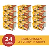 Meow Mix Simple Servings Wet Cat Food, Real Chicken & Turkey in Gravy, 1.3 Ounce Cup (Pack of 24)