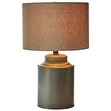 Stone & Beam Farmhouse Jug Lamp with Bulb, 20 H, Black