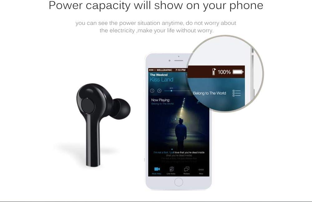 TW08 TWS Bluetooth 5.0 True Wireless 4D Stereo Earphone Sport Earbuds Waterproof (White)