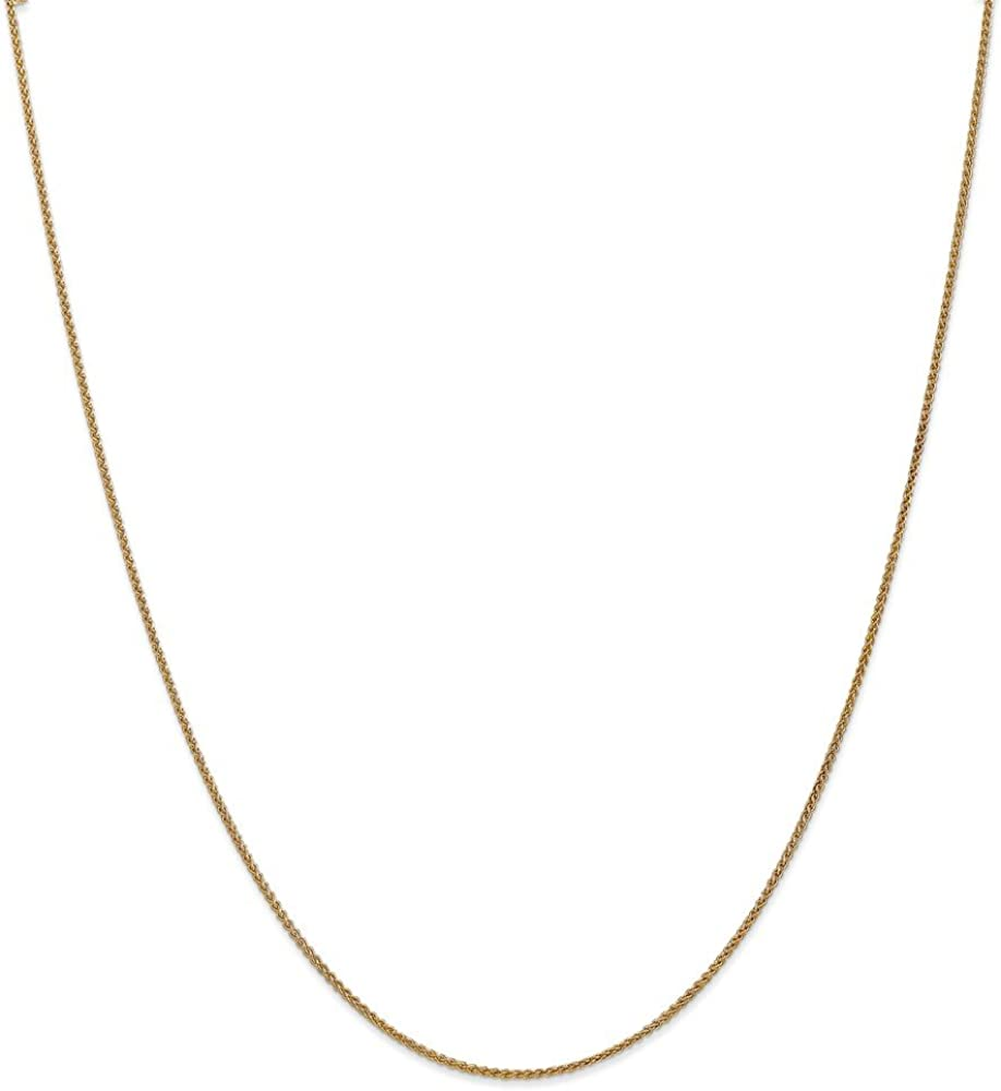 14k Yellow Gold 1.25mm Spiga Chain Necklace, 14