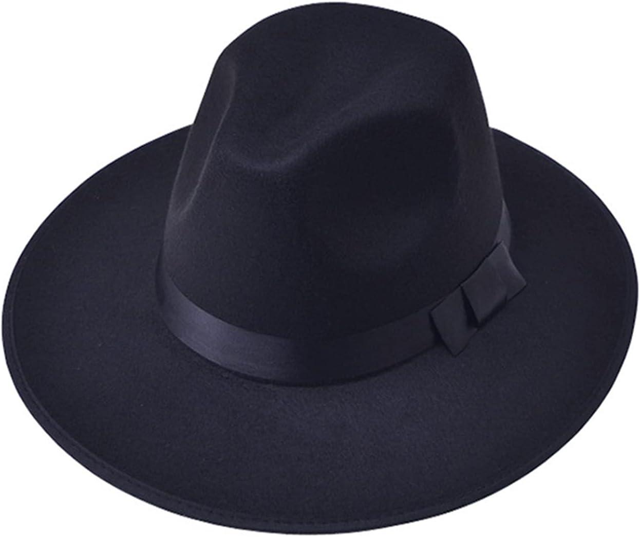 HONGJIU Women's Brim Fedora,Church Hats for Women,Flat Top Hat Church Bowknot Cap (Color : 11, Size : One Size)