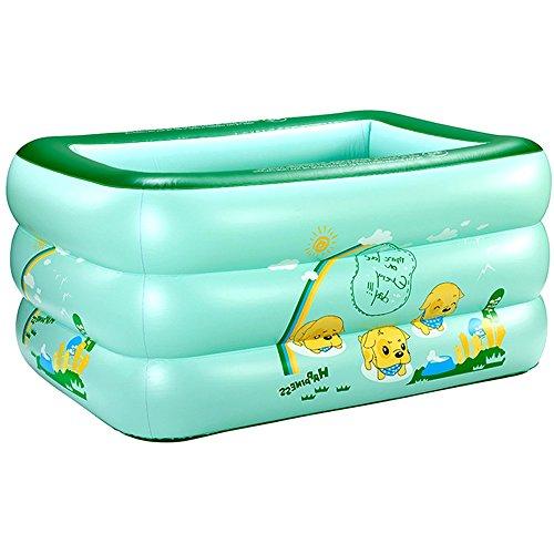 La maison gonflable de PVC de Bath de bébé de piscine de l'enfant badine la couleur verte en plastique de seau de natation (taille : 135*90*55CM)