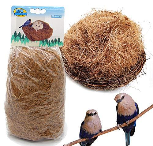 BPS 2 Pcs Sustrato Fibra Nido de Coco Natural para Pájaro Terrario Tropical Pequeño Animal...