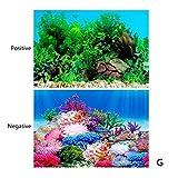 LSHGJ Aquarium Landschaft Aufkleber Plakate Aquarium 3D Hintergrund Malerei-Aufkleber PVC-Doppelseitige Ozean Meer Pflanzen Kulisse Dekor (Color : A, Size : 40x60cm)