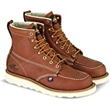 """Thorogood 804-4200 Men's American Heritage 6"""" Moc Toe, MAXwear Wedge Safety Boot, Tobacco Oil-Tanned - 10 D(M) US"""