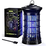 Bug Zapper Outdoor Indoor, Waterproof Electric Mosquito Zapper, 4200V 20W High Powered Attractant Lamp Mosquito Killer, 360° Insect Fly Trap for Backyard, Patio