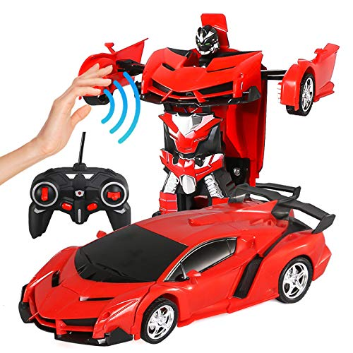 Remote Control Transformation Car for Boys,2 In 1 Best Birthday Gift for Kids 4-8 Year Old, 2 In 1 Deformation Car Robot, Great Xmas Birthday Gifts for Kid Toys for Children Age 9-12 Vehicle Robot