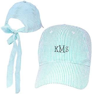 seersucker hat with bow