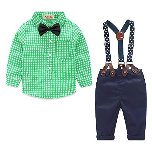 Yilaku Bebés Juego de Ropa Camisas y Pantalones Conjunto para Bebé Niño Ropa de Primavera