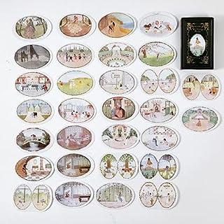 Vimax - Assorted Stickers - 60pcs/box Fairy & Elf Matchbox Diary Stickers Retro Stamps Scrapbooking Korean Journal Sticker...