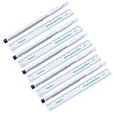 B Baosity 5Pcs/set Fine Tips Marcatori Pelle Pennarello Tatuaggio Microblading Penna Sterile con Carta di Misurazione Righello Penna di Marker per la Pelle