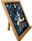 Rustic Chalkboard Sign | 15' x 12' | Smooth Wooden Frame with Non-Porous Magnetic Surface for Home Decor, Kitchen, Wedding, Restaurants & Bar Table Top
