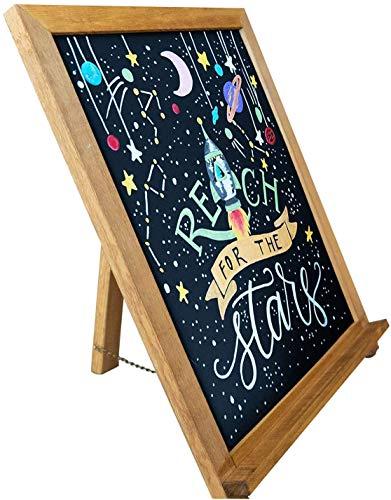 Chalkola Rustikales Kreidetafel-Schild, glatter Holzrahmen mit Nicht poröser magnetischer Oberfläche für Zuhause, Küche, Hochzeit, Restaurants und Bar Arbeitsfläche (38,1 x 30,5 cm)