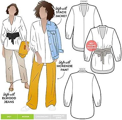 Style Arc Sewing Pattern McKenzie Woven Blazer Sizes 04-16