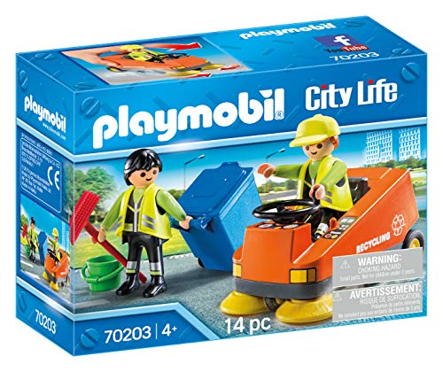 PLAYMOBIL PLAYMOBIL-70203 City Vehículo Limpieza, Multicolo