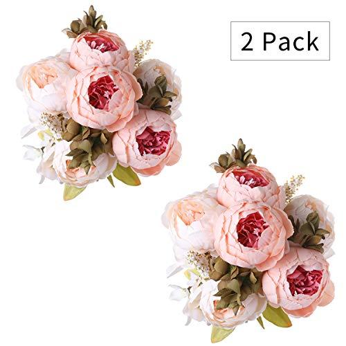 Tifuly 2 Piezas de Ramos de peonía Artificial, Ramo de Flores de imit