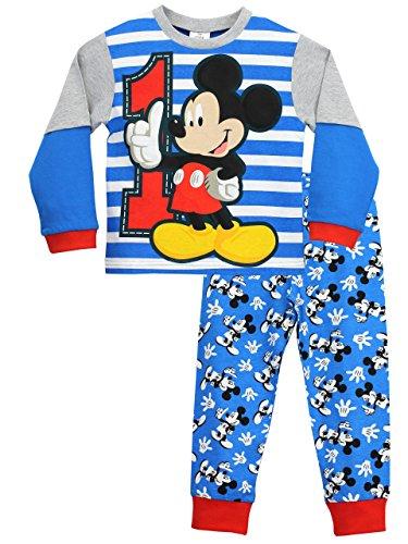Disney Jungen Schlafanzug Mickey Maus, Alter 12 Monate bis 5 Jahre Gr. 98, mehrfarbig