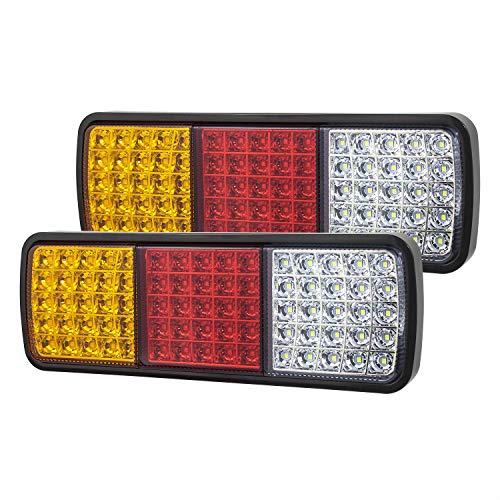 Linkitom 75 LED Truck Tail Light Bar, Super Bright 12v Turn Signal Brake Reverse Taillight for Truck Boat Snowmobile Trailer Pickup RV Camper UTV UTE Vans (2PCS)
