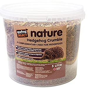 "Extra Select ""Nature"" Complimentary Hedgehog Crumble Feed Tub, 5 Litre"