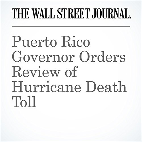 Puerto Rico Governor Orders Review of Hurricane Death Toll copertina
