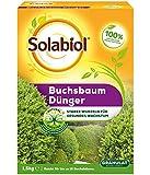 Solabiol Buchsbaum Dünger, 100% organisches Buchsbaumdünger Granulat mit Wurzelaktivator Osiryl, 1,5 kg