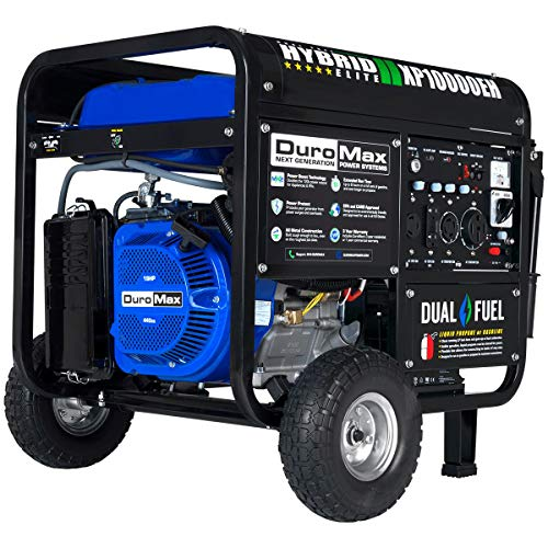 DuroMax XP10000EH 10000-Watt 18 HP Portable Dual Fuel Electric Start Generator